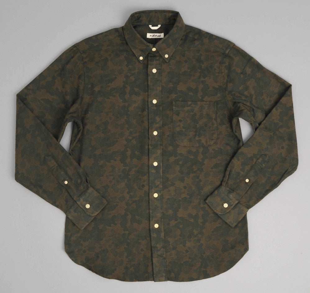 The Hill-Side Brushed Jacquard Camouflage Button-Down Shirt, Green