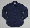 The Hill-Side - Brushed Jacquard Camouflage Button-Down Shirt, Navy - SH1-206