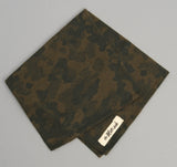 The Hill-Side - Brushed Jacquard Camouflage Pocket Square, Green - PS1-207