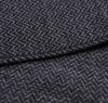 The Hill-Side - Brushed Mini Herringbone Pocket Square, Navy / Purple / Black - PS1-200