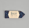 The Hill-Side - COTTON/LINEN VICTORIAN IVY PRINT BOW TIE, NAVY - BTN-159