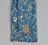 The Hill-Side - COTTON/LINEN VICTORIAN IVY PRINT TIE, TEAL - N57-160