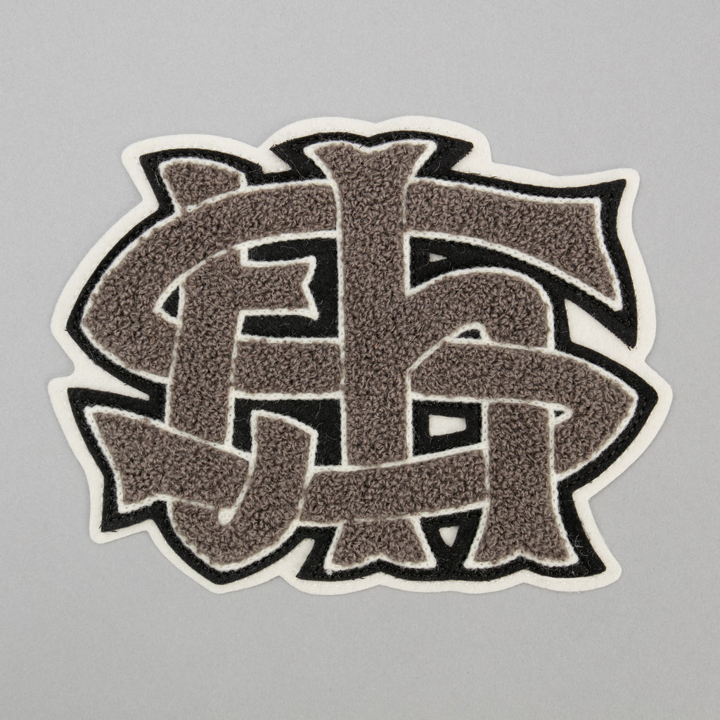 The Hill-Side - Chenille Patch, TH-S Monogram Patch, Grey - PA2-04