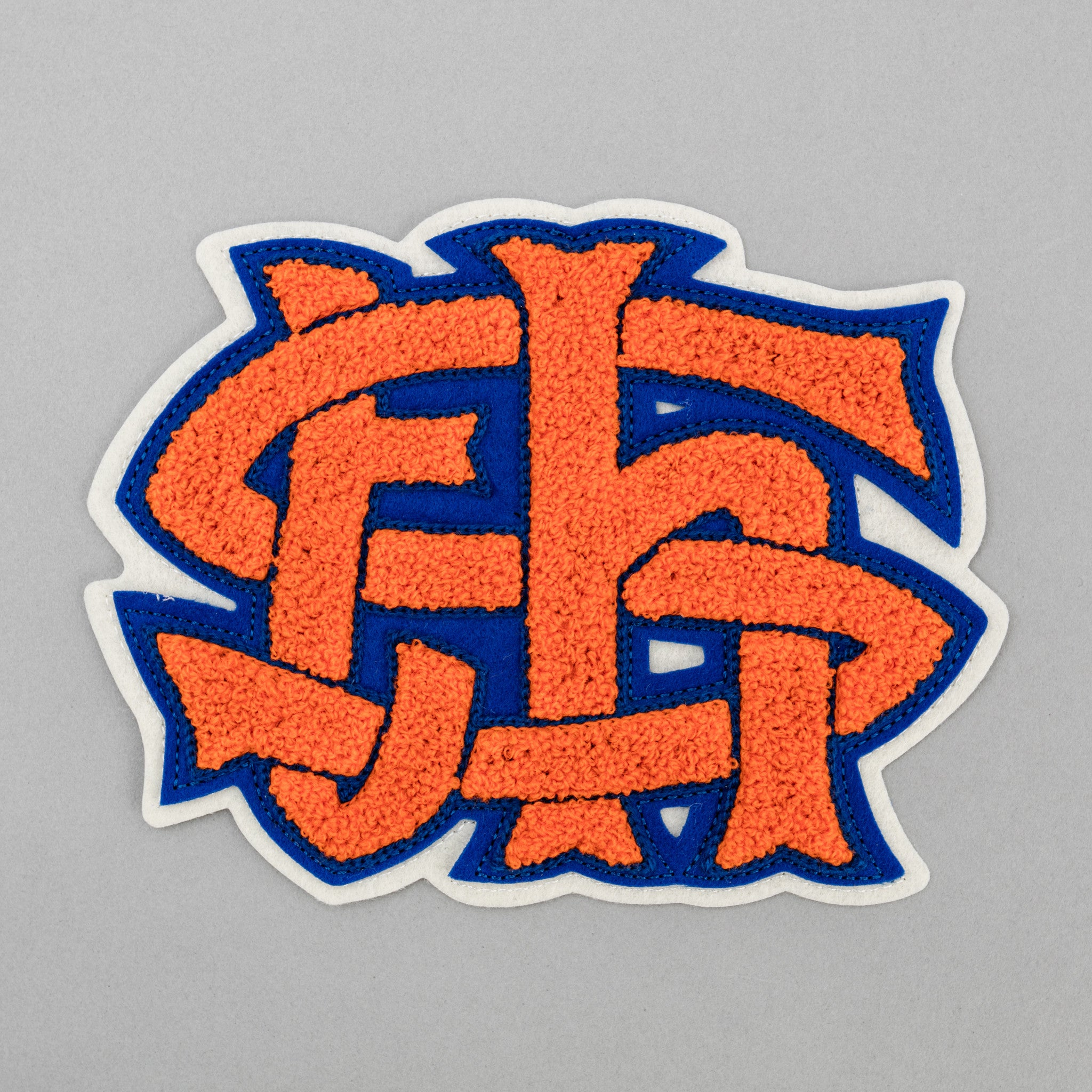 The Hill-Side - Chenille Patch, TH-S Monogram Patch,