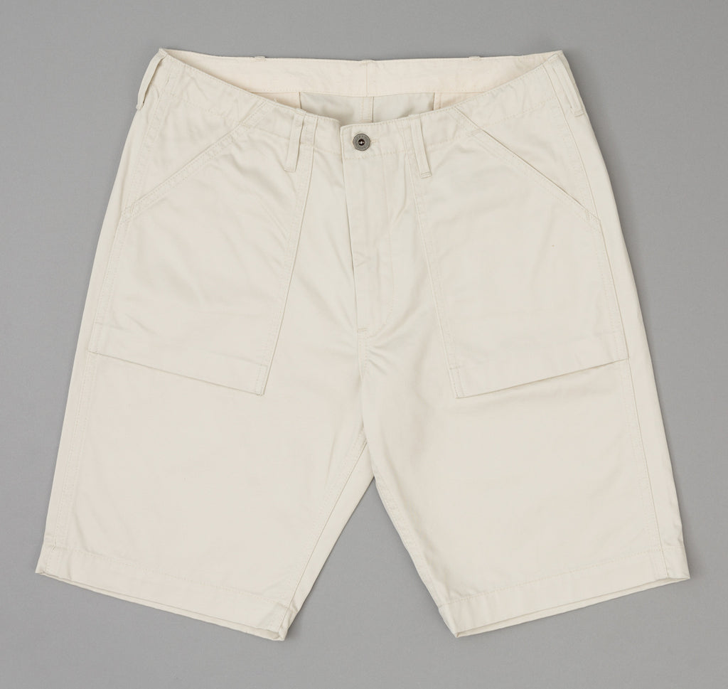 The Hill-Side - Chino Twill Fatigue Shorts, Ivory - SP1-343