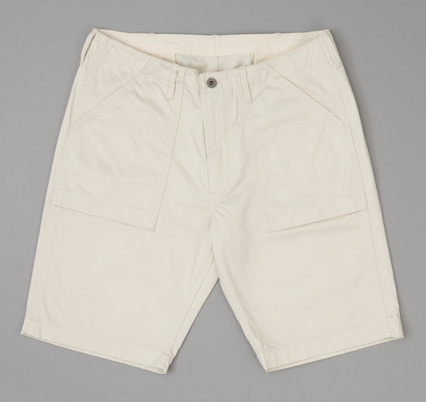 The Hill-Side Ivory Twill Fatigue Shorts