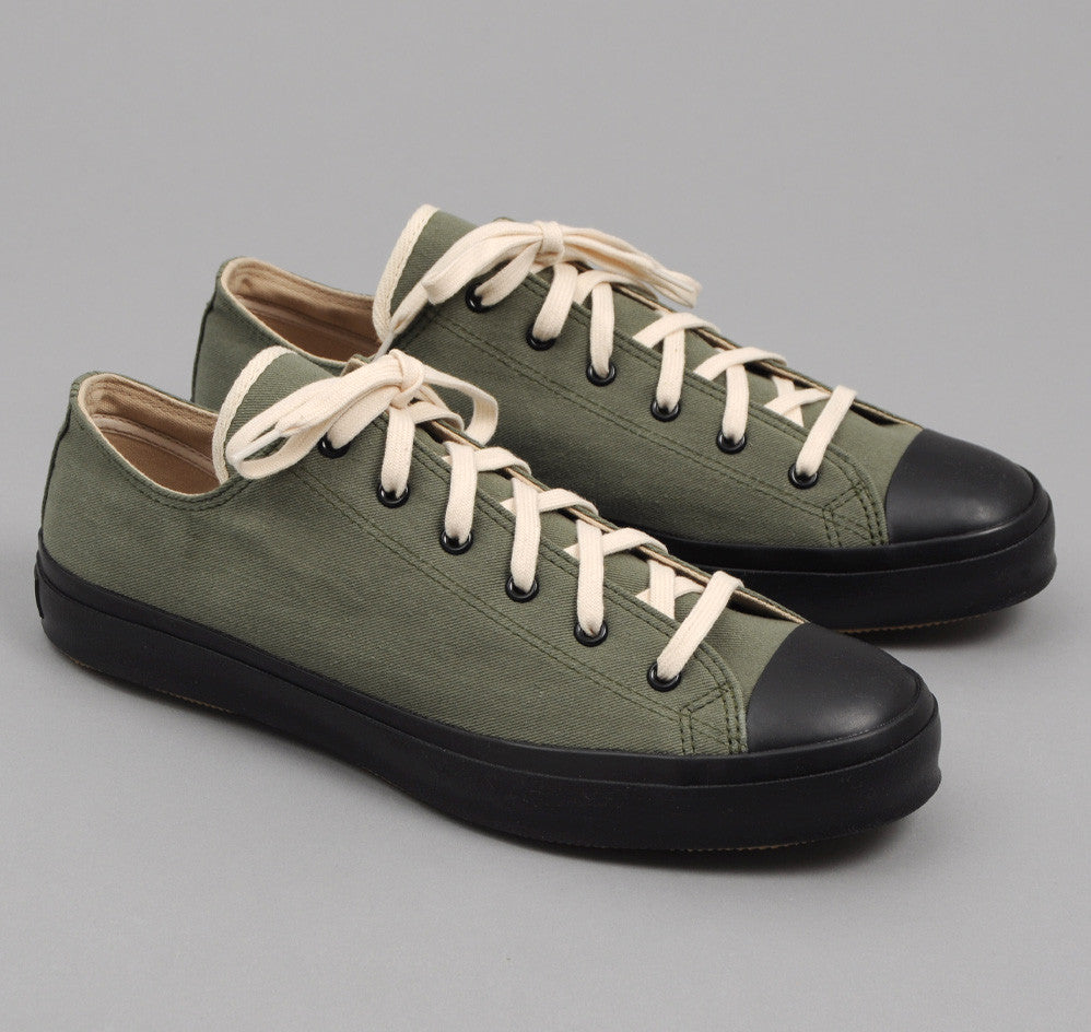 The Hill-Side - Chino Twill Low Top Sneakers, Army Green - SN1-008