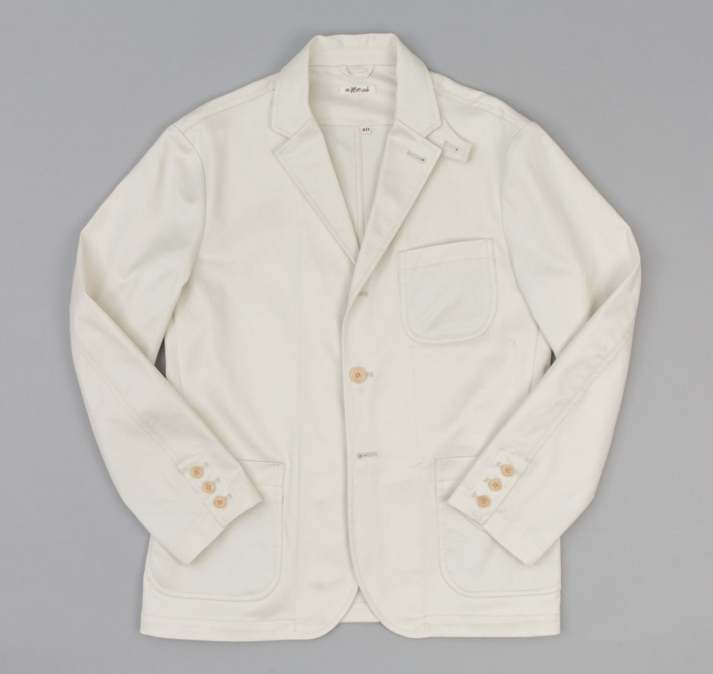The Hill-Side - Chino Twill Tailored Jacket, Ivory - JK1-343