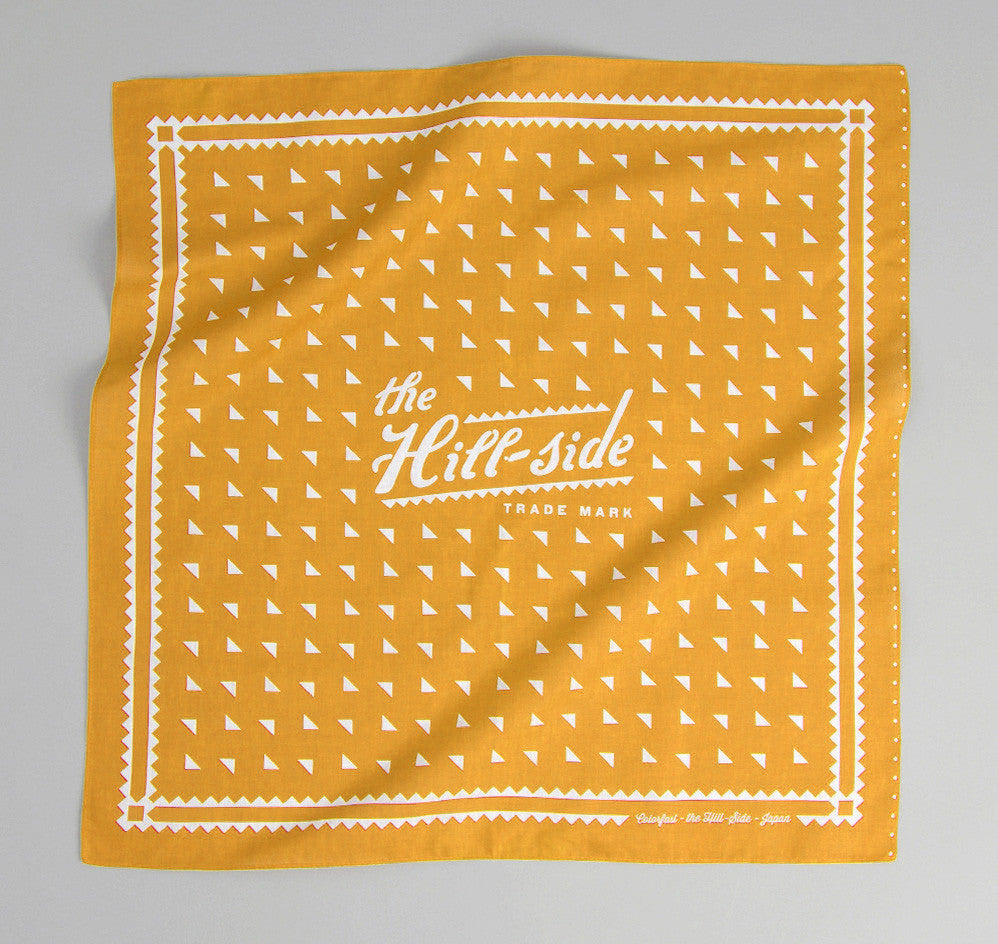 The Hill-Side - Classic Logo Souvenir Bandana, Mustard - SB3-03