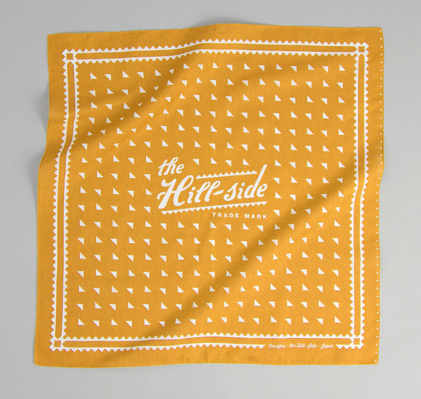 The Hill-Side Classic Logo Souvenir Bandana, Mustard