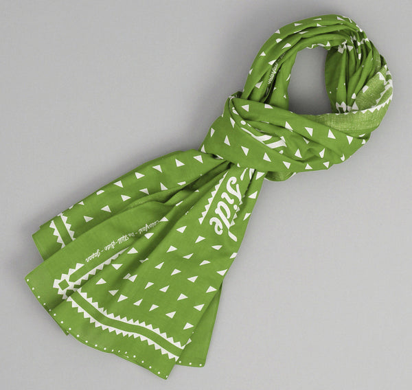 The Hill-Side - Classic Logo Souvenir Bandana Scarf, Green - SS3-04