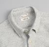 The Hill-Side Cotton Blend Blanket Twill Button-Down Shirt, Grey