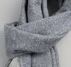 The Hill-Side - Cotton Blend Blanket Twill Scarf, Navy - SC1-297