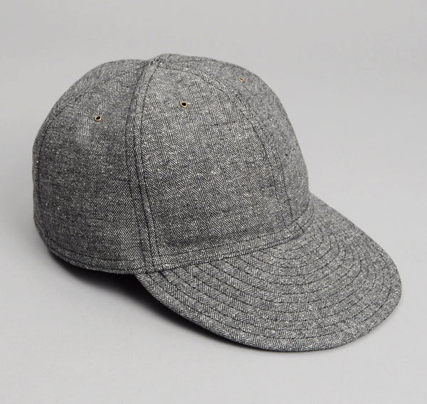 The Hill-Side Cotton Herringbone Tweed 6-Panel Ball Cap, Grey