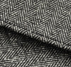 The Hill-Side - Cotton Herringbone Tweed Pocket Square, Grey - PS1-188