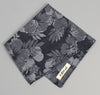 The Hill-Side Cotton / Linen Jacquard Aloha Pocket Square, Indigo