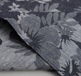 The Hill-Side - Cotton / Linen Jacquard Aloha Pocket Square, Indigo - PS1-269