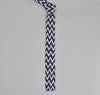 The Hill-Side Cotton/Linen Zig Zag Print Tie, Navy