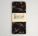 The Hill-Side - Cotton / Wool Jacquard Camo Scarf, Red - SC1-307