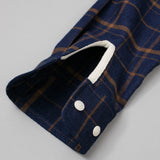 The Hill-Side Coupe Shirt, Indigo / Brown Check