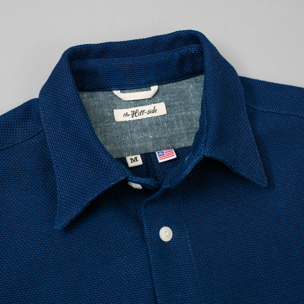 The Hill-Side Coupe Shirt, Selvedge Indigo Sashiko