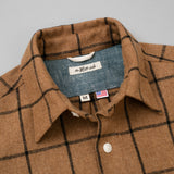 The Hill-Side Coupe Shirt, Wool Blend Windopane Check, Brown & Black