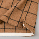The Hill-Side - Coupe Shirt, Wool Blend Windopane Check, Brown & Black - SH5-382