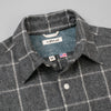 The Hill-Side Coupe Shirt, Wool Blend Windopane Check, Grey & White