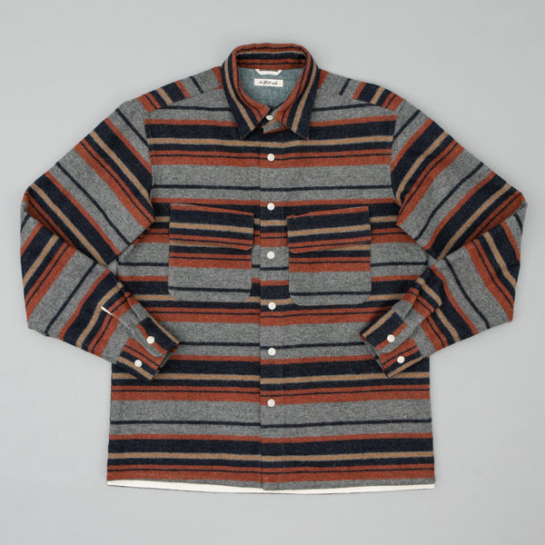 The Hill-Side Coupe Shirt, Wool/Cotton Blanket Stripe