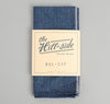 The Hill-Side Covert Chambray Pocket Square, Dark Indigo