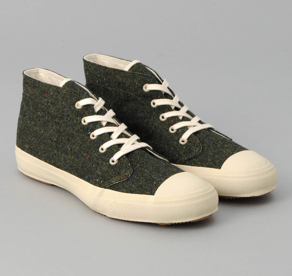 The Hill-Side - Donegal Tweed Chukka Sneakers, Hunter Green - SN3-221