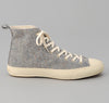 The Hill-Side Donegal Tweed High Top Sneakers, Grey / Tan
