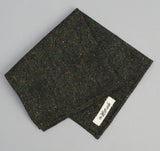The Hill-Side - Donegal Tweed Pocket Square, Hunter Green - PS1-221