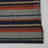 The Hill-Side - El Segundo Shirt, Wool/Cotton Blanket Stripe, Grey/Navy/Rust - SH3-203