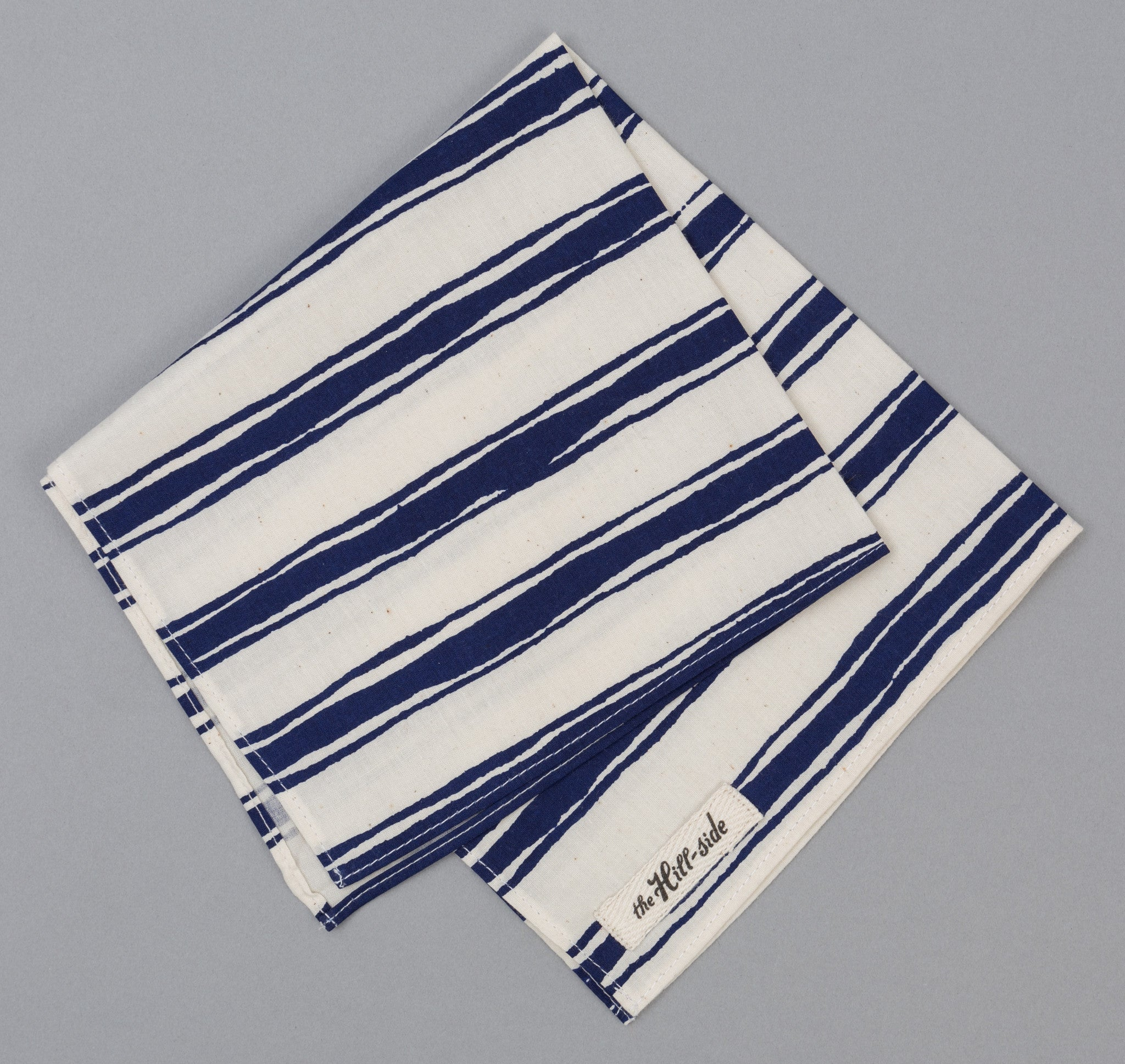 The Hill-Side - Endo Stripes Print Bandana, Natural - BA1-344