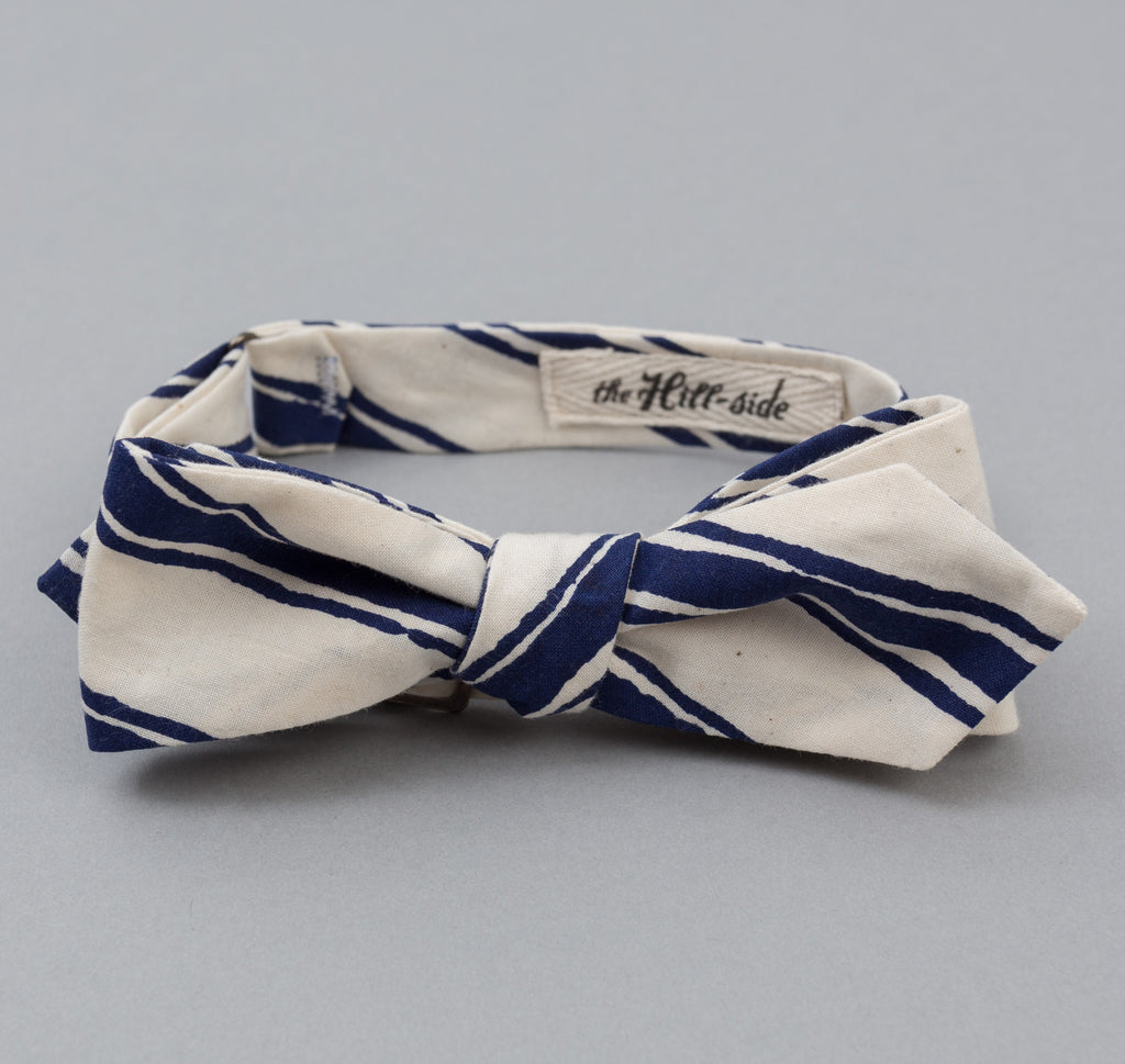 The Hill-Side Endo Stripes Print Bow Tie, Natural