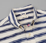 The Hill-Side - Endo Stripes Print Short Sleeve Standard Shirt, Natural - SH2-344