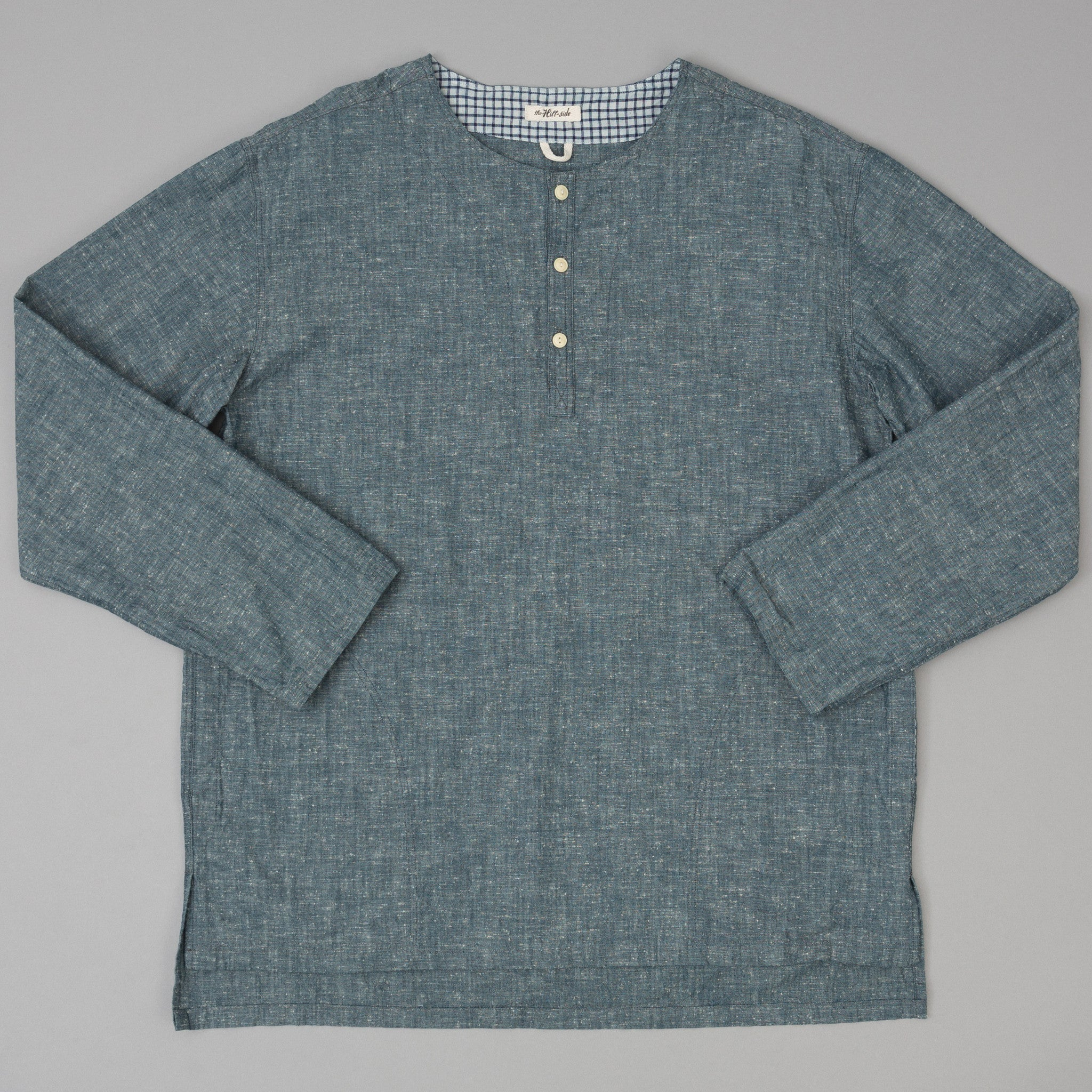 The Hill-Side - Extra Neppy Indigo Chambray El Segundo Shirt - SH3-324