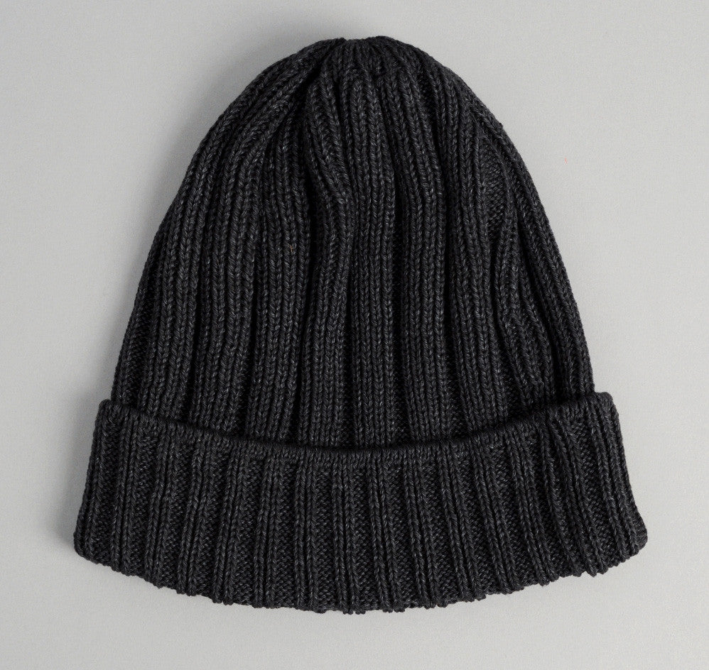 The Hill-Side - Faded Black Pima Cotton Knit Cap - KC1-03