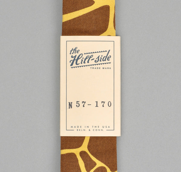 The Hill-Side GIRAFFE PRINT TIE, BROWN