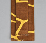 The Hill-Side - GIRAFFE PRINT TIE, BROWN - N57-170