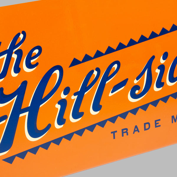 The Hill-Side Limited Edition Hand-Painted Metal Sign
