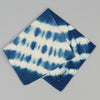 The Hill-Side - Hand-Dyed Shibori Selvedge Chambray Pocket Square, Natural Indigo - PS1-360