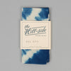 The Hill-Side Hand-Dyed Shibori Selvedge Chambray Pocket Square, Natural Indigo