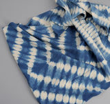 The Hill-Side - Hand-Dyed Shibori Selvedge Chambray Scarf, Natural Indigo - SC1-360