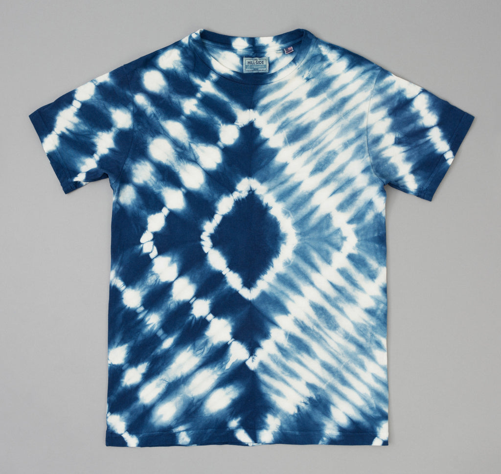 Hand Dyed Shibori T Shirt Natural Indigo Ts1 0008 The
