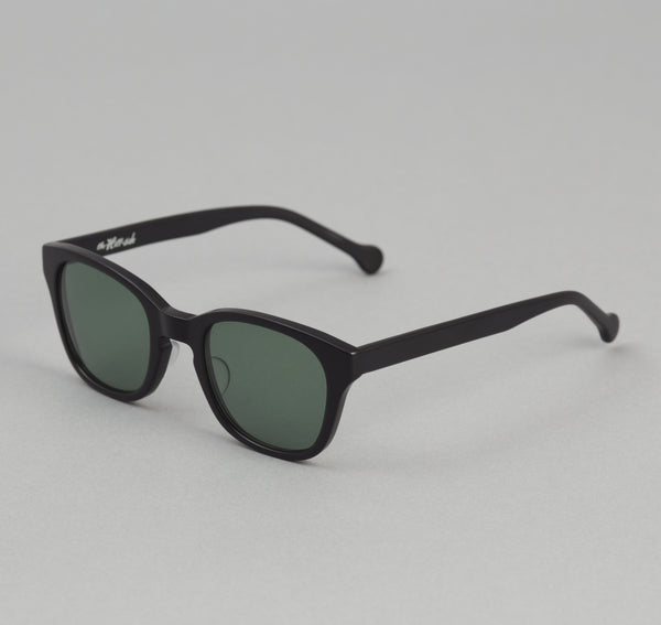 The Hill-Side - Handmade Acetate Sunglasses, Matte Black - SU1-03