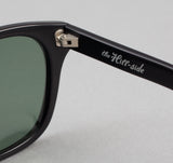 The Hill-Side Handmade Acetate Sunglasses, Matte Black