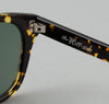 The Hill-Side - Handmade Acetate Sunglasses, Tortoiseshell / Green Lenses - SU1-02