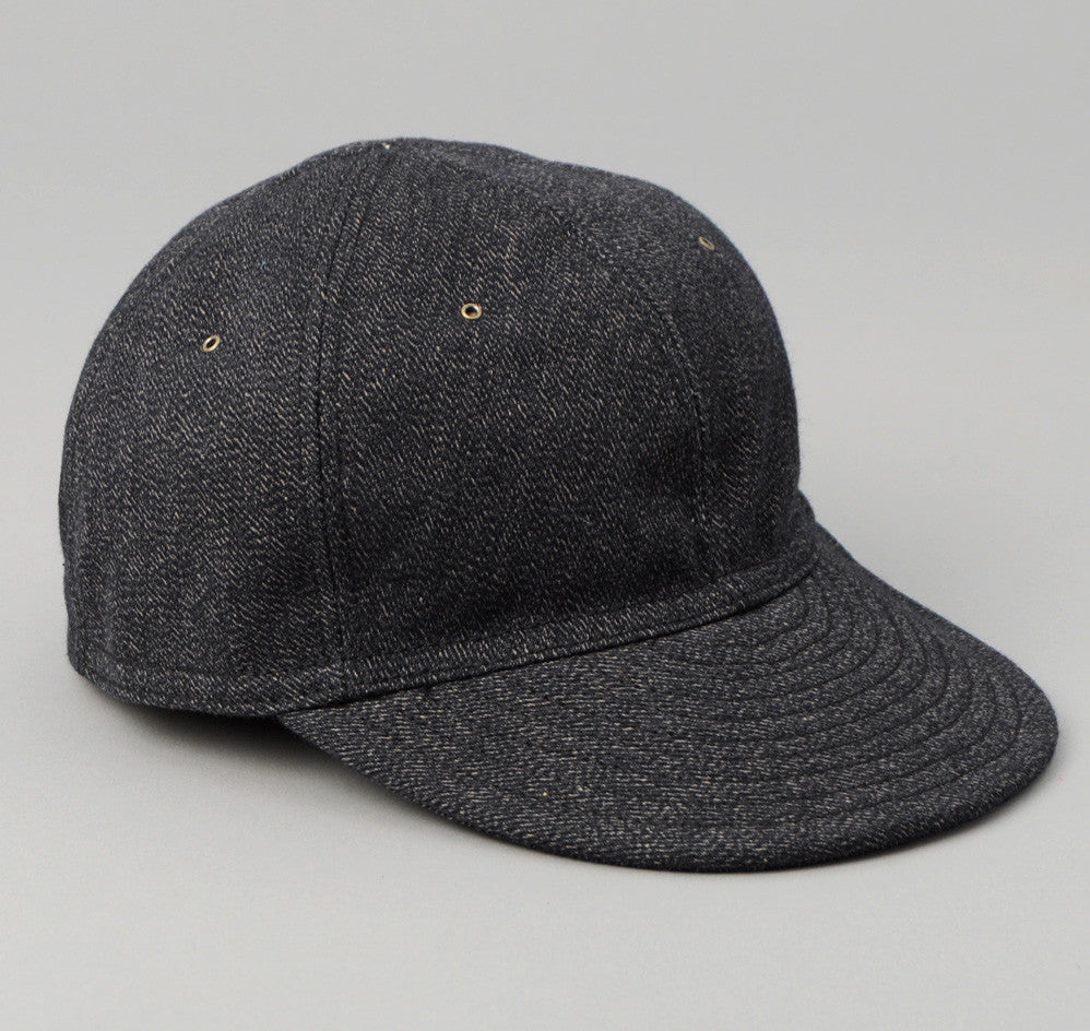 The Hill-Side - Heavyweight Covert Twill 6-Panel Ball Cap, Black - CA1-305